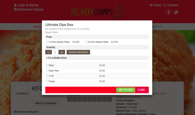 deliverychamps.com sistema de múltiplos restaurantes
