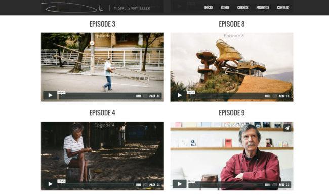 olialexander.com website one-page efeito parallax