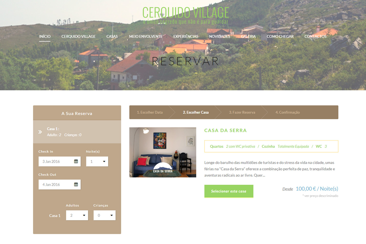 cerquidovillage com – hotel with booking system | fatcat ninja