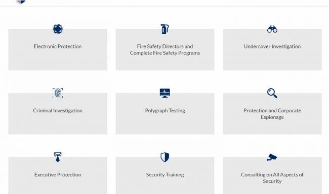 pentagonprotection.org - website parallax para empresa