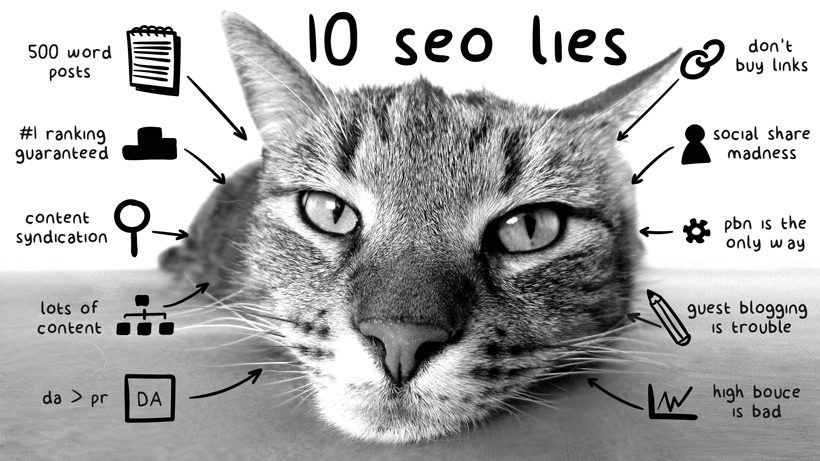top 10 seo lies